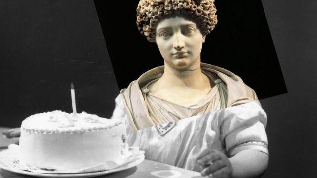 Imagen de una noble romana.