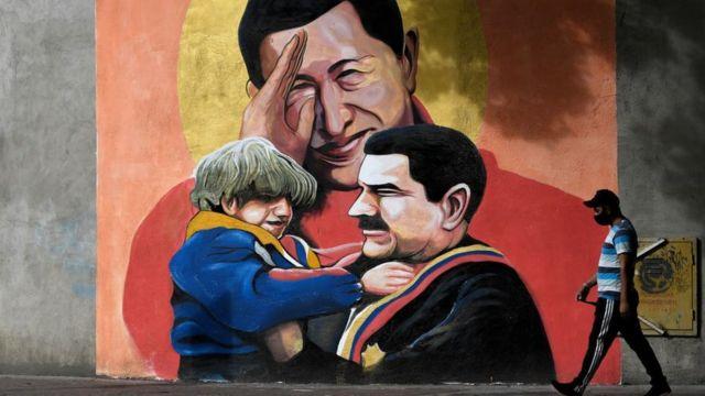 Mural en Caracas.