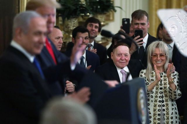 Netanyahu, Trump, Adelson and his Israeli wife