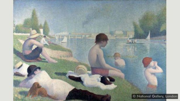 'Um banho em Asnières', de Seurat