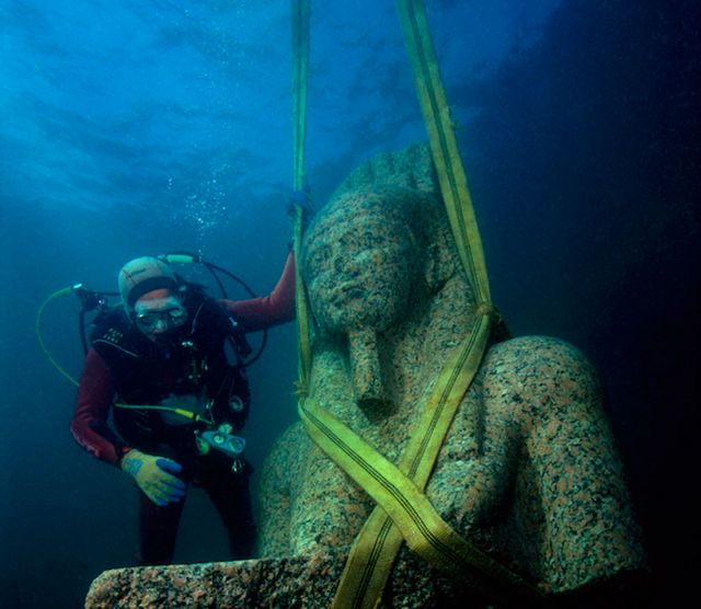 Estatua del faraón