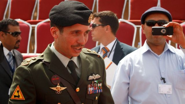 Prince Hamza bin Al-Hussein said that he was placed under house arrest