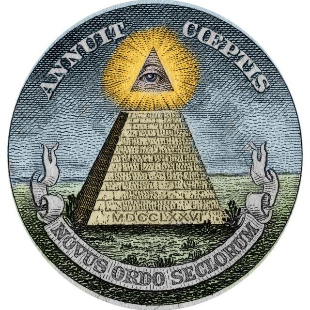 """Piramit ve """"Her Şeyi Gören Göz"""" sembolü ABD'nin resmi amblemi ve paralarının üzerinde de yer alıyor"""