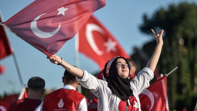 Erdogan's supporters helped thwart the coup.