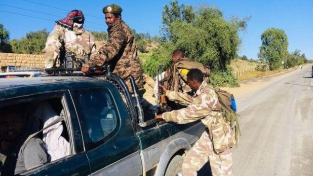 جنود من قوات الحكومة الاثيوبية