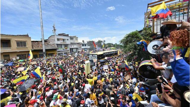 Protesto na Colombia