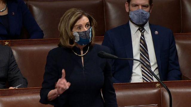 Nancy Pelosi, presidenta de la Cámara de Representantes