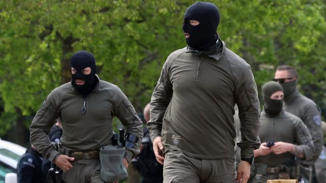 Security forces search for Conings on 20 May