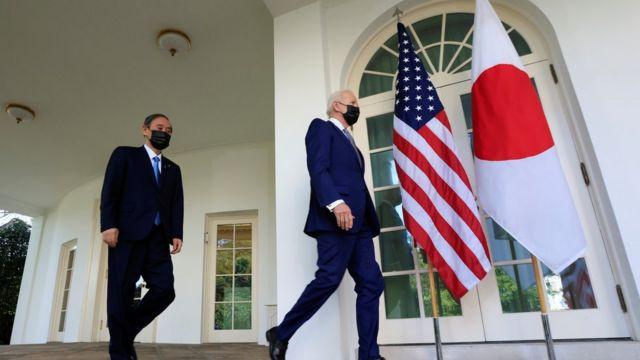 日本首相须贺喜秀周五与美国总统拜登举行会谈。