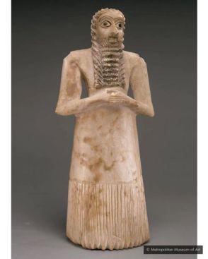 Les Sumériens utilisaient des yeux anormalement grands pour transmettre la sainteté des figures divines (Crédit : Metropolitan Museum of Art)