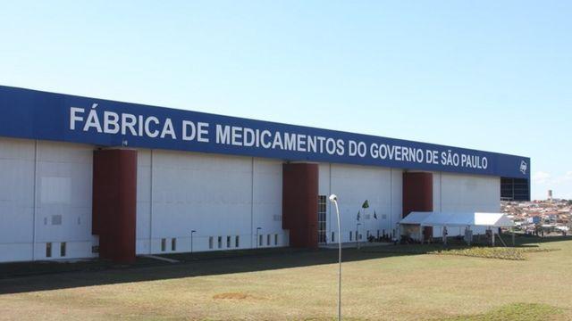 Fachada da Fábrica de Medicamentos do Estado de São Paulo