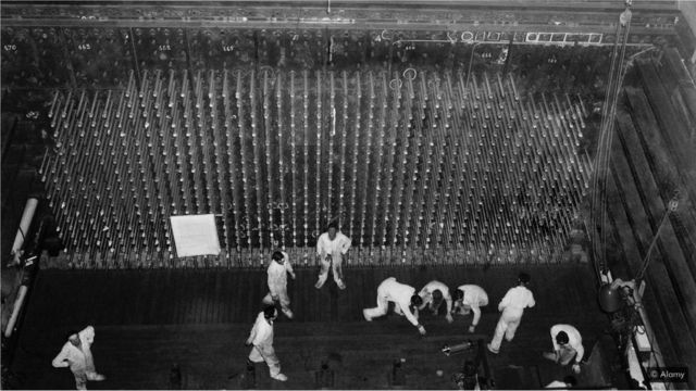 The Reactor B at Hanford was used to process uranium into weapons grade plutonium for the Fat Man atomic bomb that was dropped on Nagasaki (Credit: Alamy)