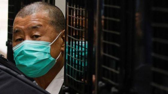 李志英在监狱车的陪同下前往香港终审法院,听取《国家安全法》的保释上诉裁决(9/2/2021)