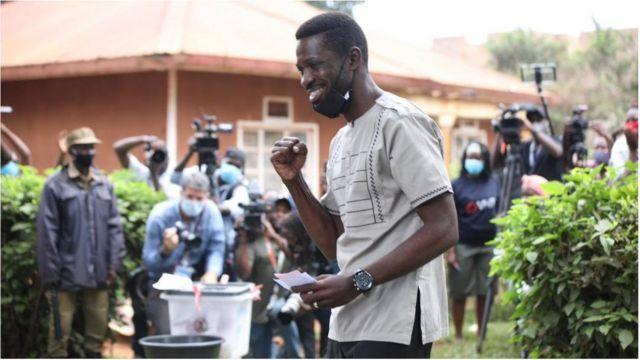 Uganda Election Day 2021: Robert Kyagulanyi Sentamu AKA Bobi Wine speak wit BBC
