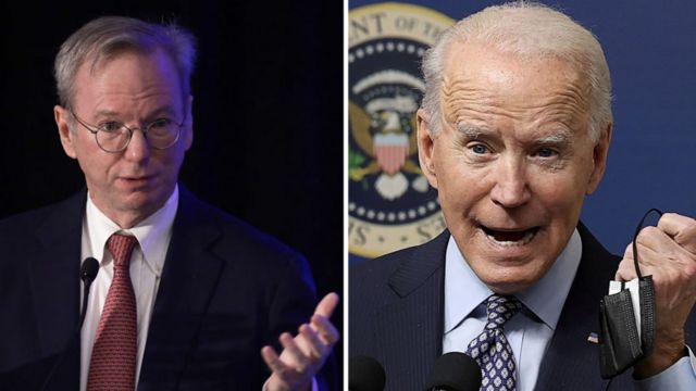 Eric Schmidt and Joe Biden