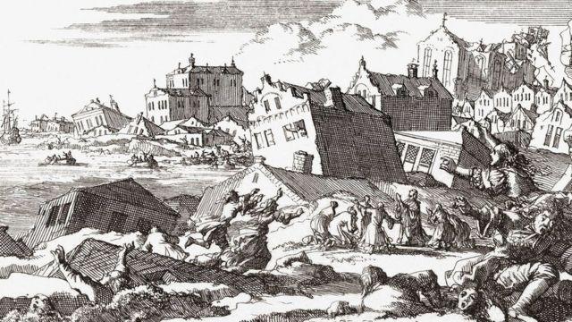 """في أواخر القرن السابع عشر؛ لحق الدمار بغالبية أنحاء """"بورت رويال""""، قبل أن تبتلعها مياه البحر"""