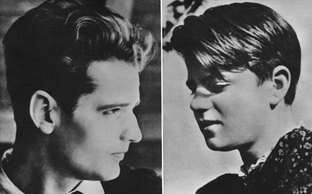 1940년 학창시절의 한스와 조피 숄
