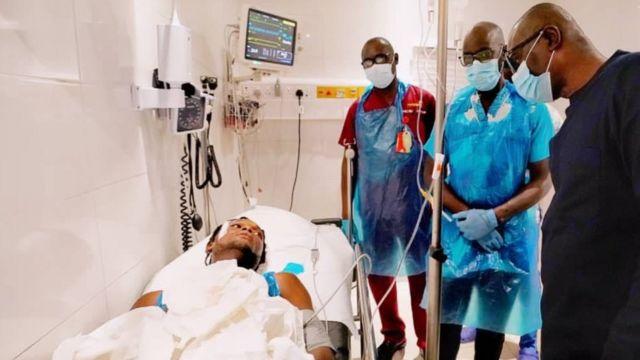 Lagos state goment visit one of di injured