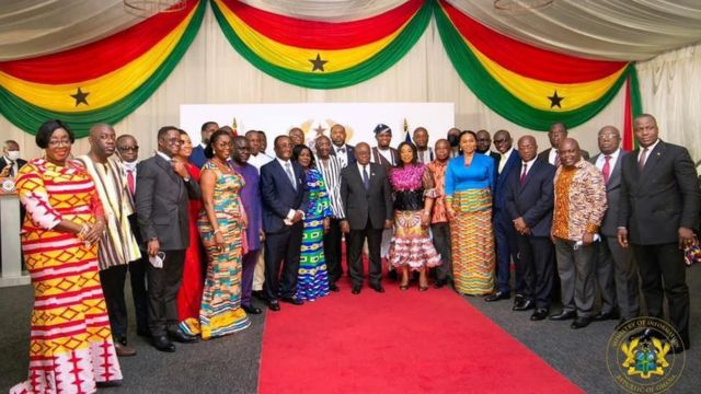 Akufo-Addo wit new ministers