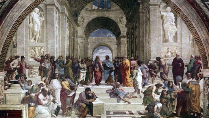 La Escuela de Atenas, obra del Renacimiento.