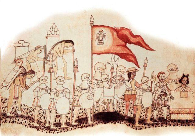 Una ilustración de la expedición de Cortés