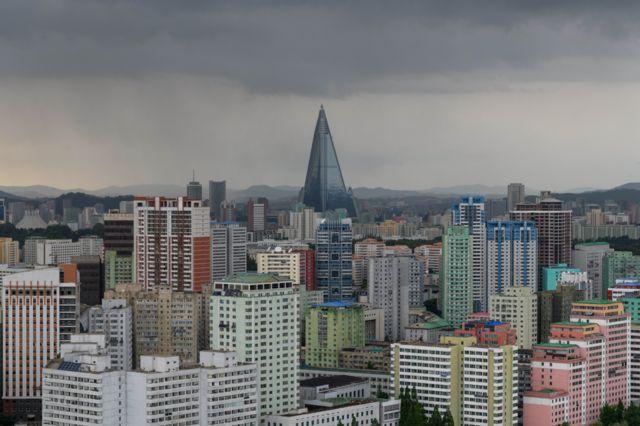Pyongyang cityscape