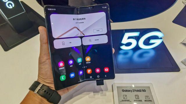 Samsung foldable mobile phone