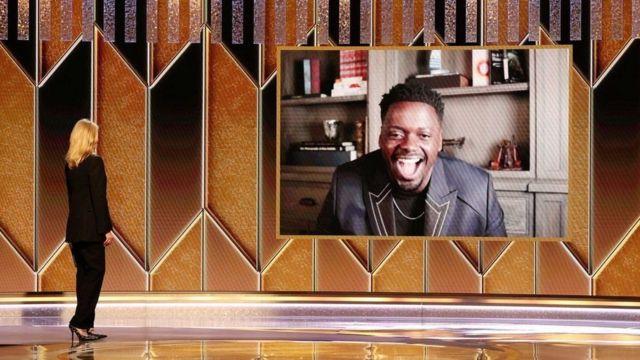 """Daniel Kaluuya fue reconocido como mejor actor secundario en """"Judas and the Black Messiah""""."""