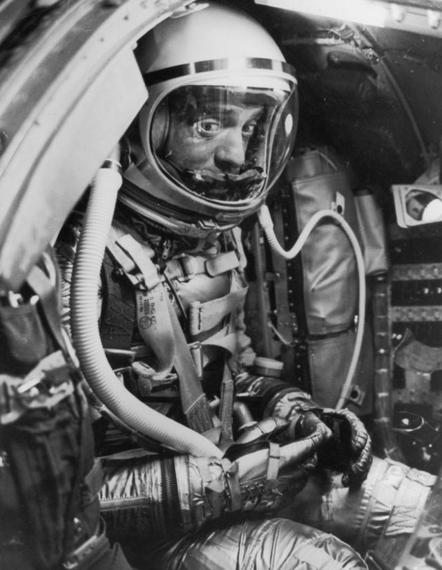 Alan Shepard, May 5, 1961, before launch