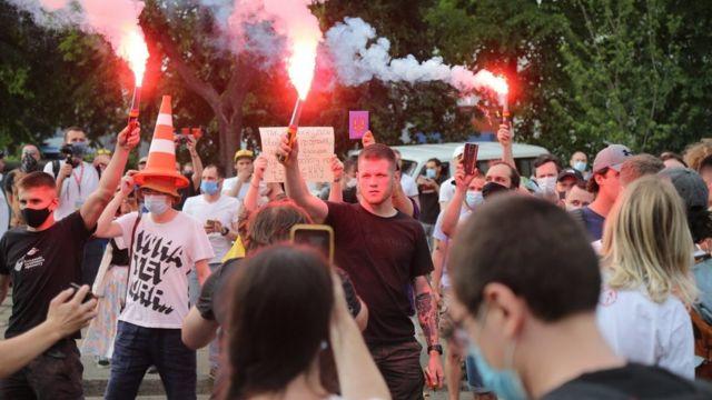 Акція на підтримку Сергія Стерненка. Київ, 15 червня 2020 року
