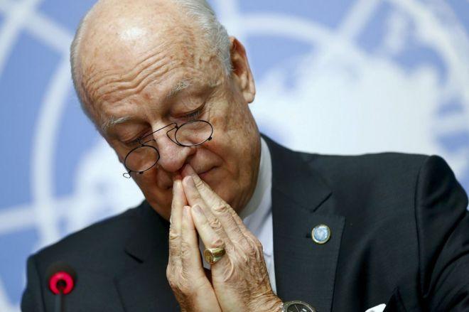 Steffan de Mistura, enviado da ONU para a Síria