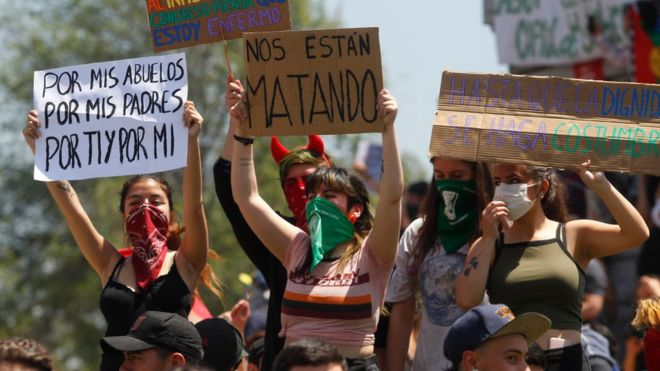 """Resultado de imagen de los jovenes en las calles de chile"""""""