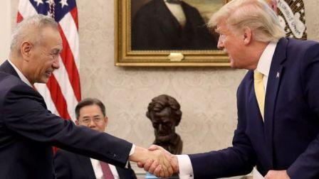 Presidente dos EUA, Donald Trump, e vice-primeiro-ministro chinês, Liu He