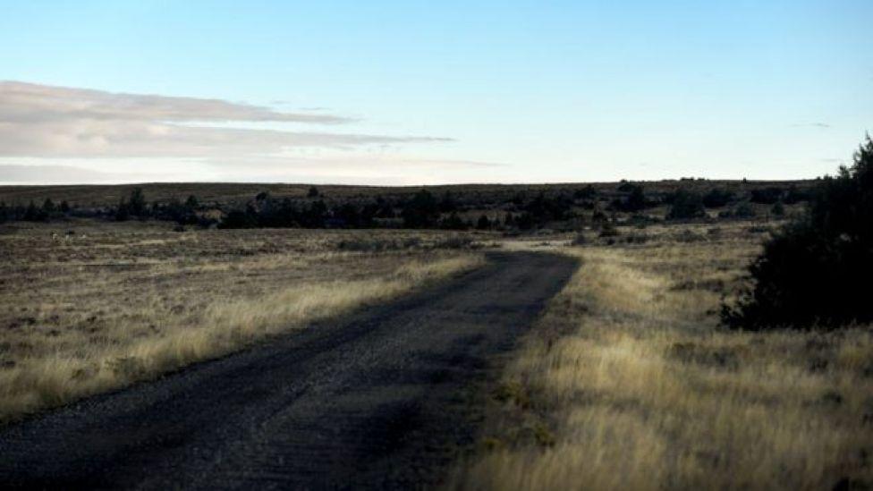 Un camino de tierra cerca de donde Shepard fue atacado.