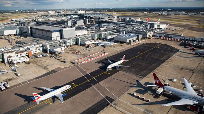 heathrow airport runway lights
