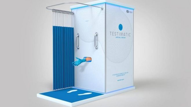 Testimatic booth