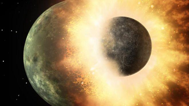 Planetary smash-up