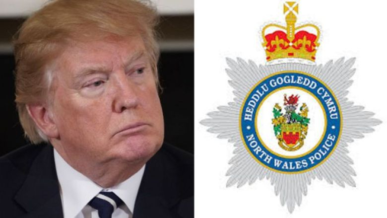 Trump/North Wales Police montage