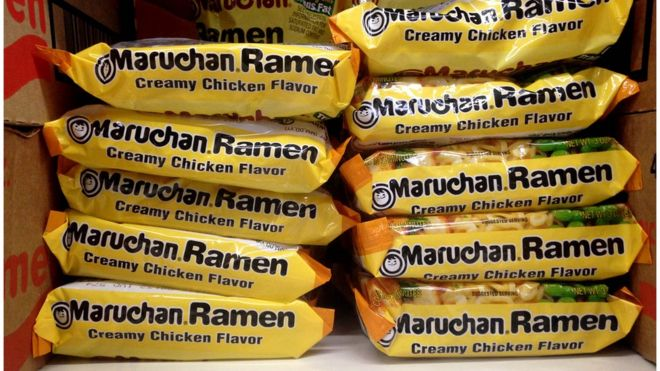 Stacked Packages Of Dried Ramen Creamy En Noodles In New Jersey