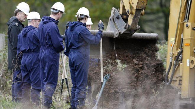 Excavaciones en Old Damson Lane