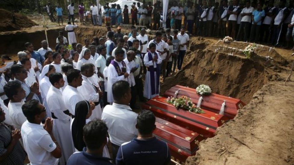 Funeral near St. Sebastian Church in Negombo