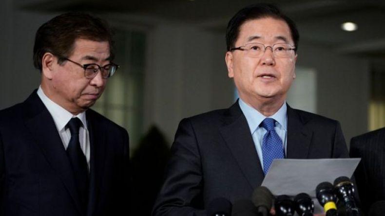 Jefe de la Oficina de Seguridad Nacional de Corea del Sur, Chung Eiu-yong.