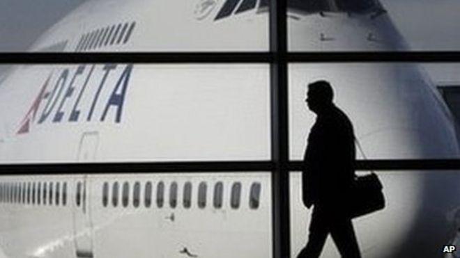 A Delta 747 aircraft