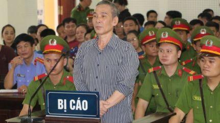 Ông Lê Đình Lượng tại phiên tòa hôm 16/8.
