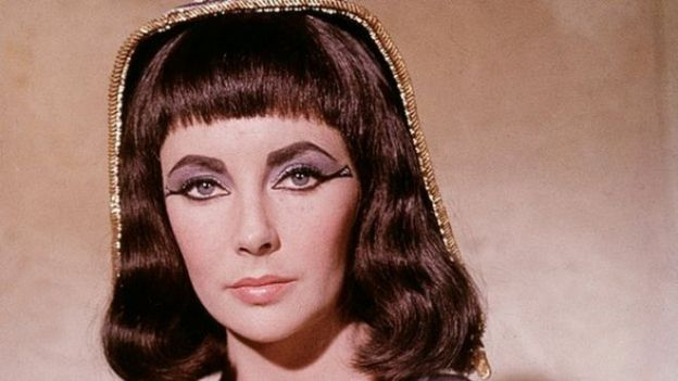 Cleopatra played by Elizabeth Taylor