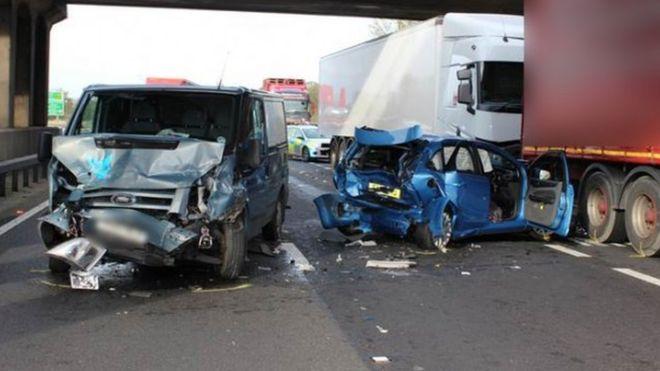 A1 crash scene