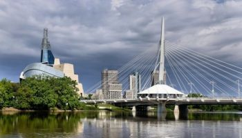 A view of Winnipeg from the Red River