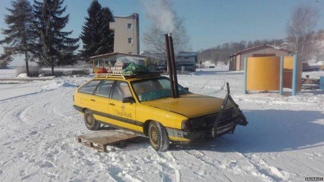 estonians convert old car