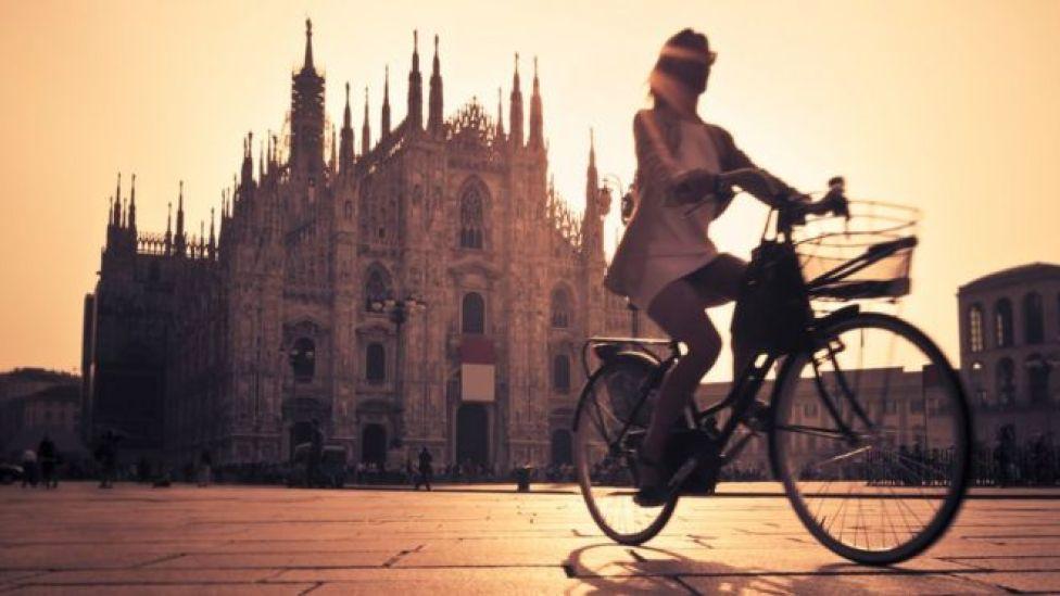 Le cyclisme à Milan, Italie