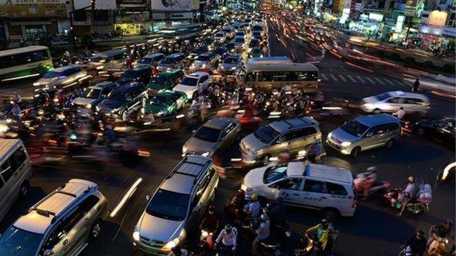 Giao thông ở TP HCM ngày càng tắc nghẽn
